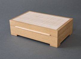 White Oak and Maple Grid Jewelry Box