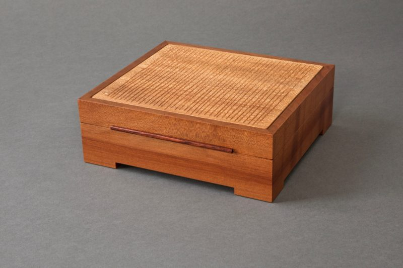 Madrone Grid Jewelry Box