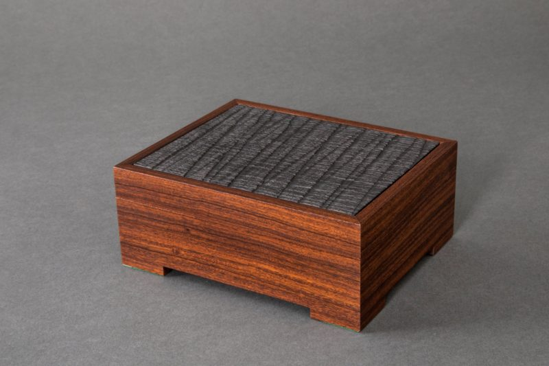 small rosewood and graphite box